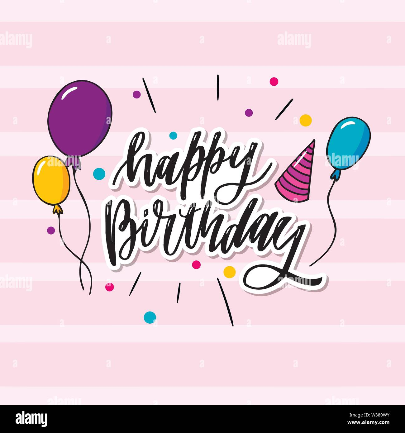 This Is Happy Birthday Typography Which Is Can Be Applied