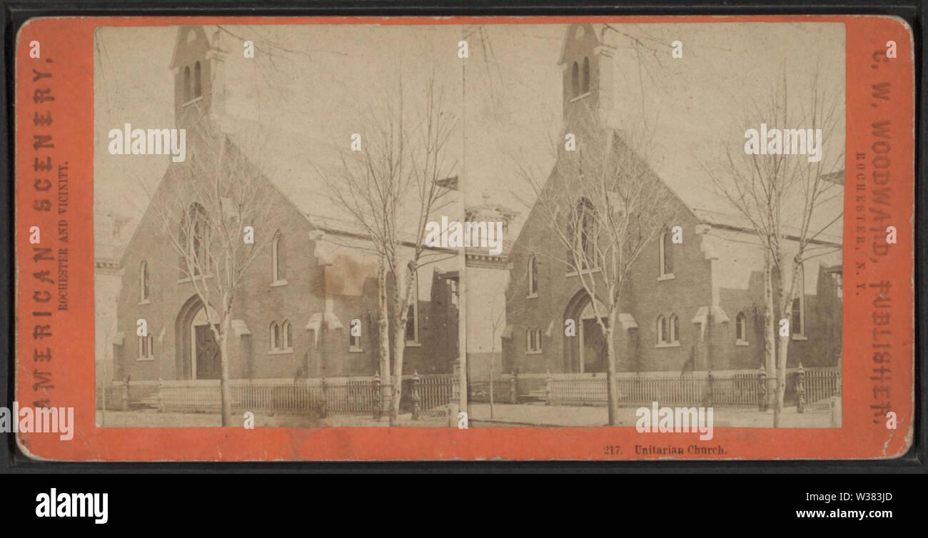 Unitarian Church, by Woodward, C W (Charles Warren) - Stock Image