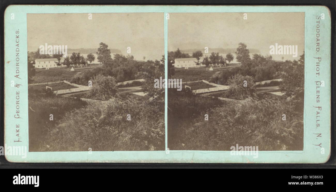 View at Bolton, Lake George, NY, by Stoddard, Seneca Ray, 1844-1917 , 1844-1917 - Stock Image