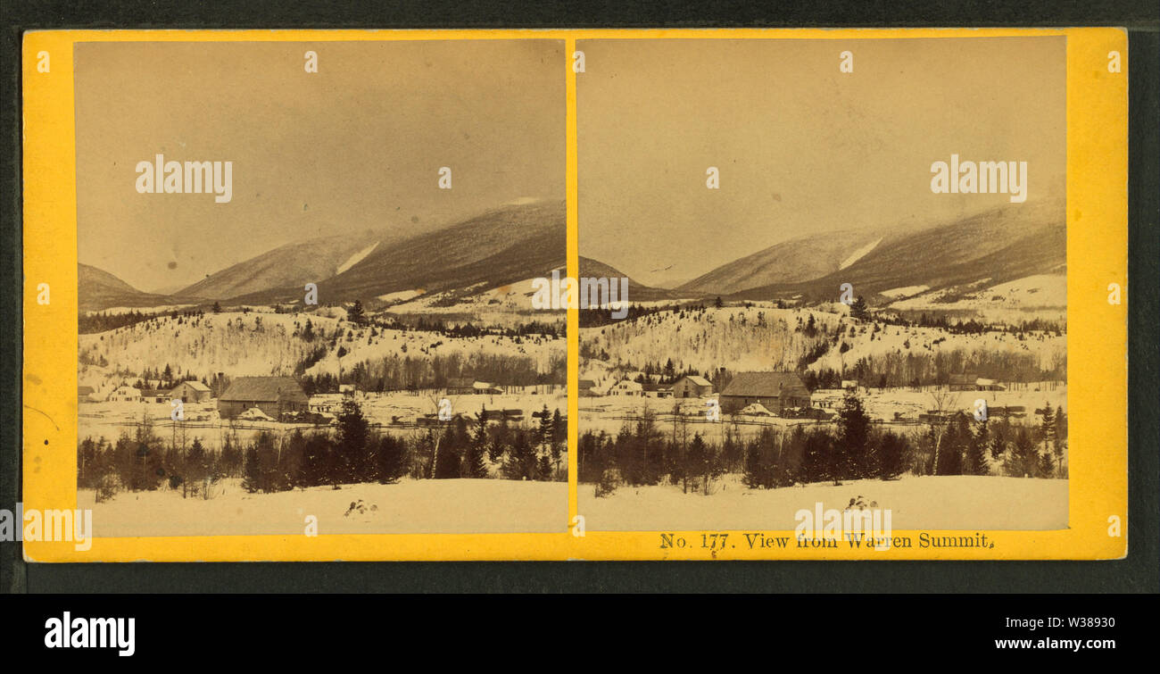 View from Warren Summit, from Robert N Dennis collection of stereoscopic views - Stock Image
