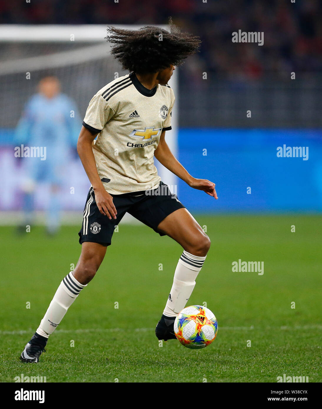 Optus Stadium, Perth, Western Australia. 13th July, 2019. Pre-season friendly football, Perth Glory versus Manchester United; Tahith Chong of Manchester United Credit: Action Plus Sports/Alamy Live News Stock Photo