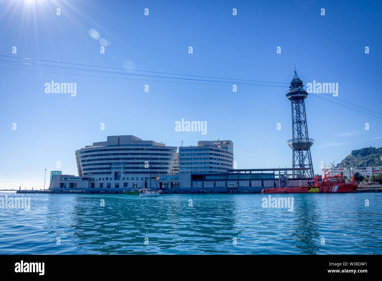 World Trade Center Barcelona is a business park located in Barcelona, Spain - Stock Image