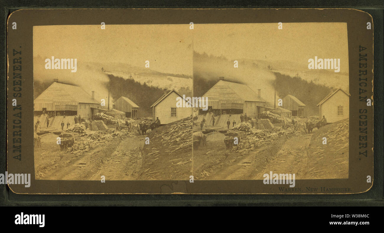 Warren, New Hampshire, from Robert N Dennis collection of stereoscopic views - Stock Image