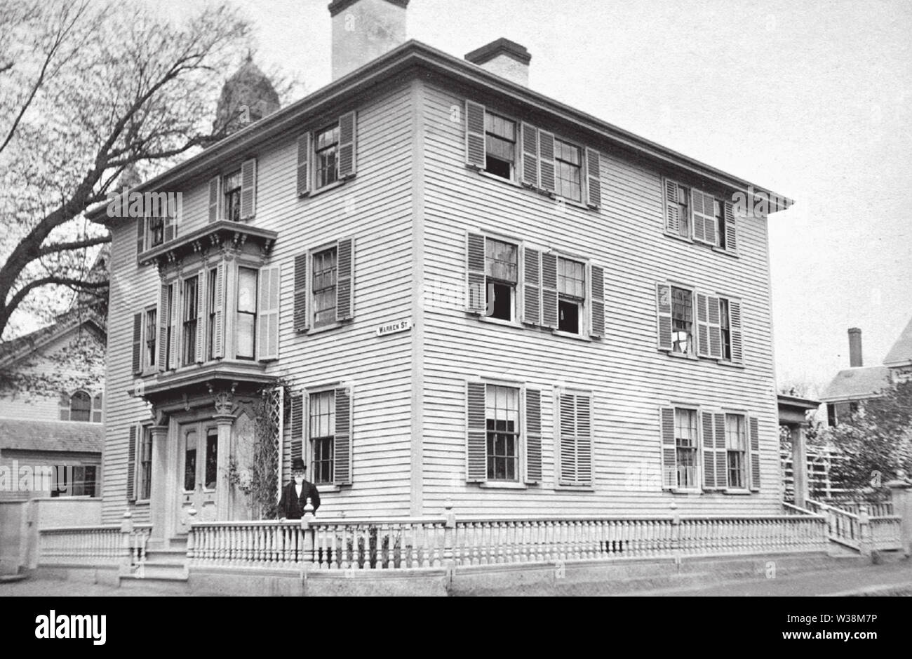 Warren Street in Gloucester Massachusetts USA circa1880s - Stock Image
