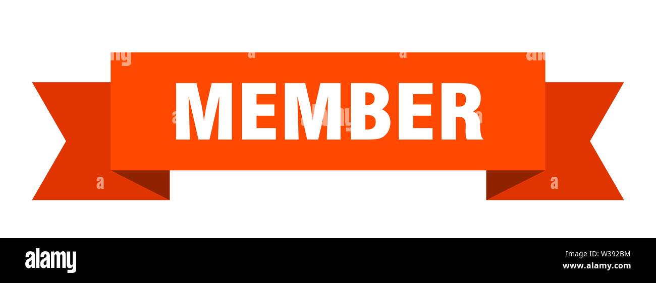 member ribbon. member isolated sign. member banner - Stock Image