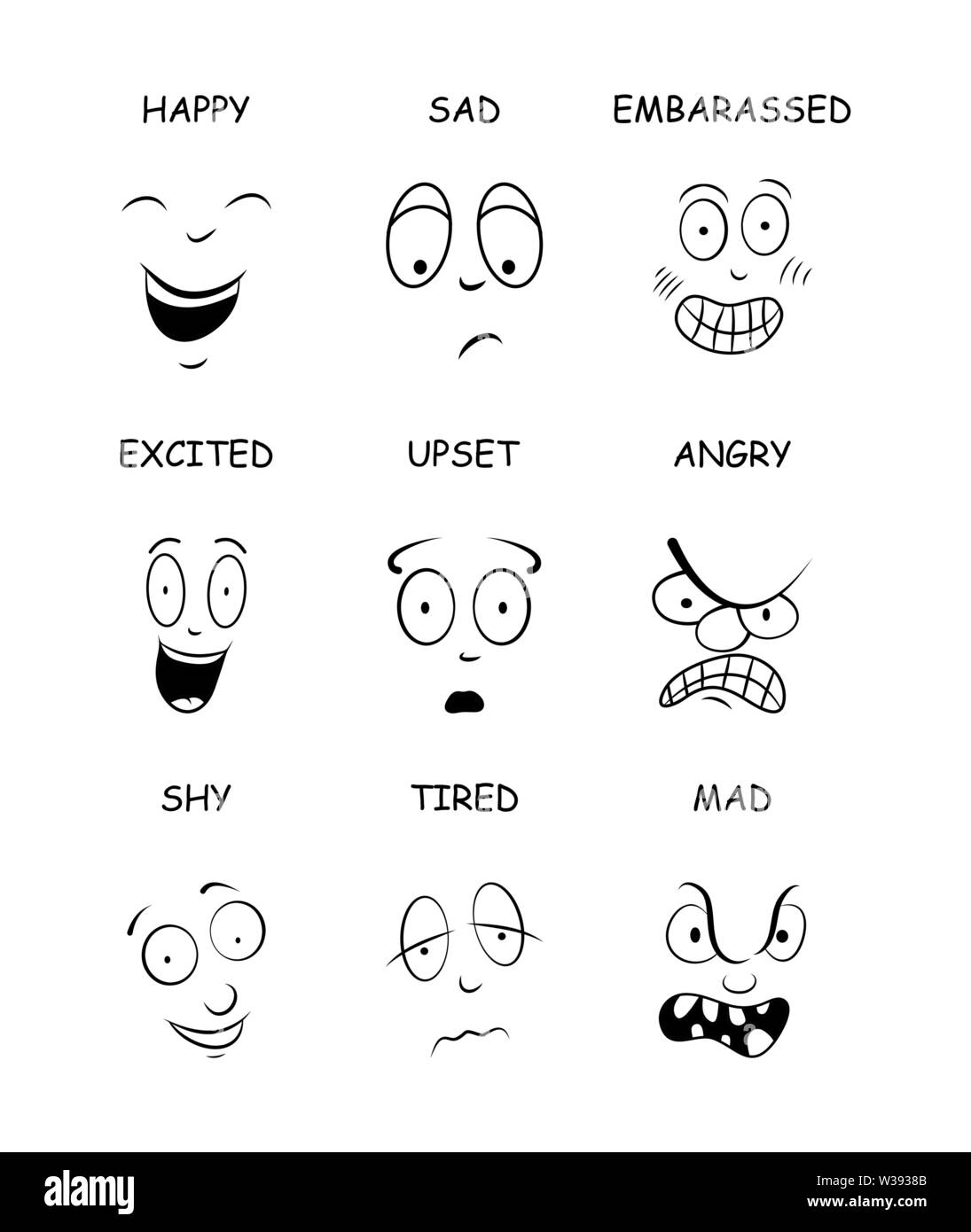 Expressions Cartoon High Resolution Stock Photography And Images Alamy