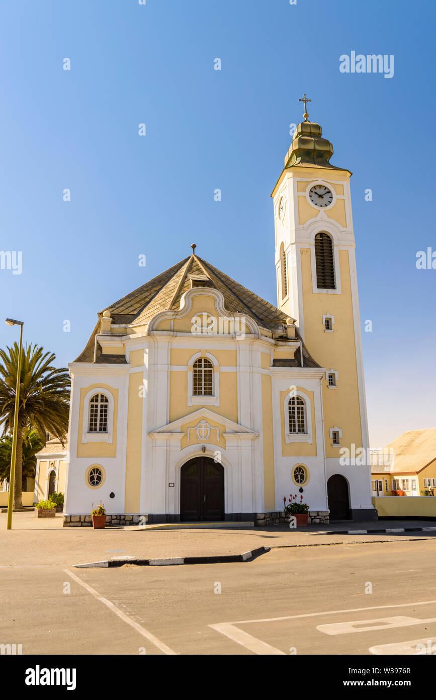 Deutsche Evangelisch-Lutherische Church in Swakopmund, Namibia Stock Photo