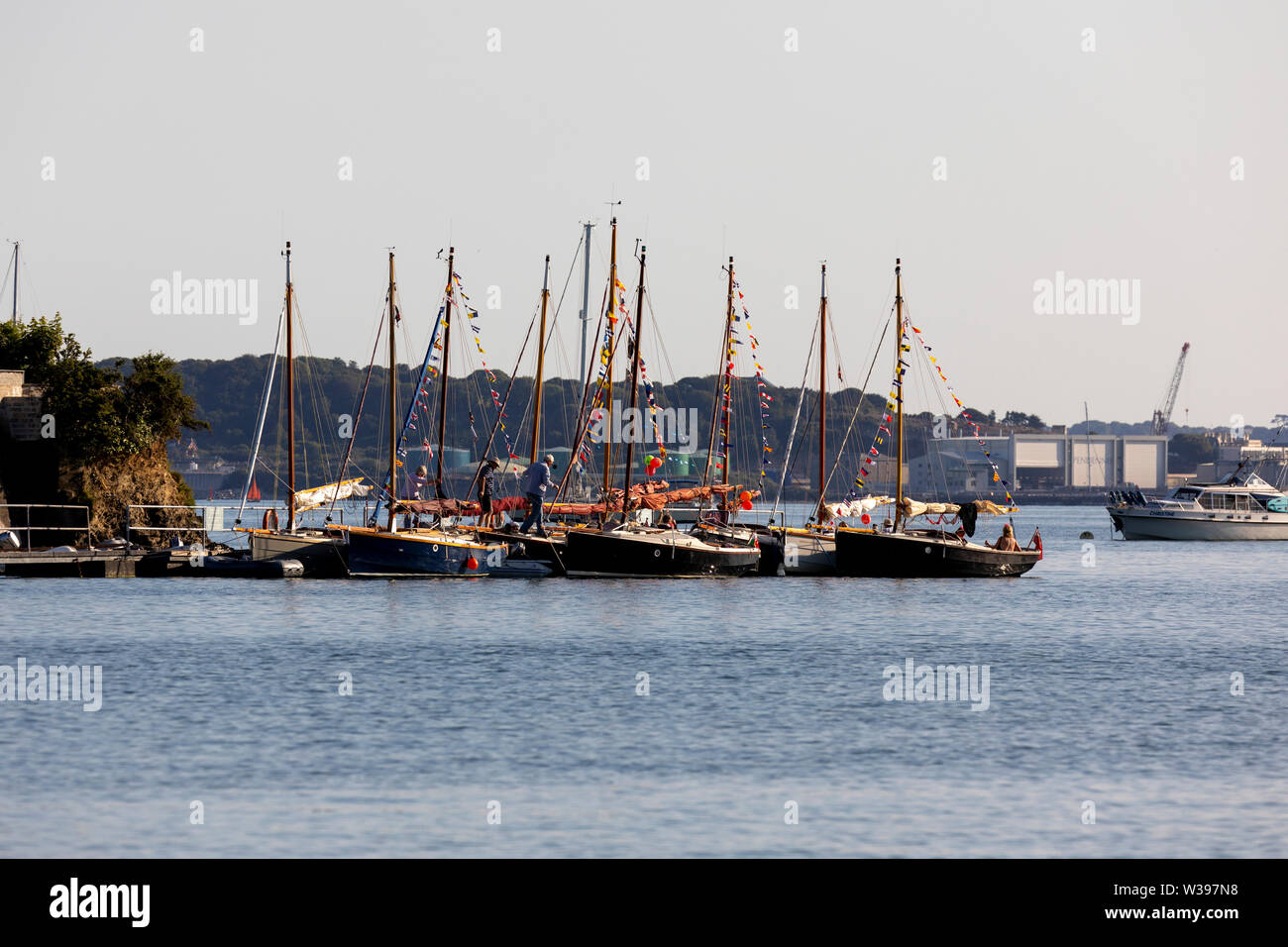 Shrimper Class Meet at St Just-in-Roseland, Carrick Roads, Falmouth - Stock Image