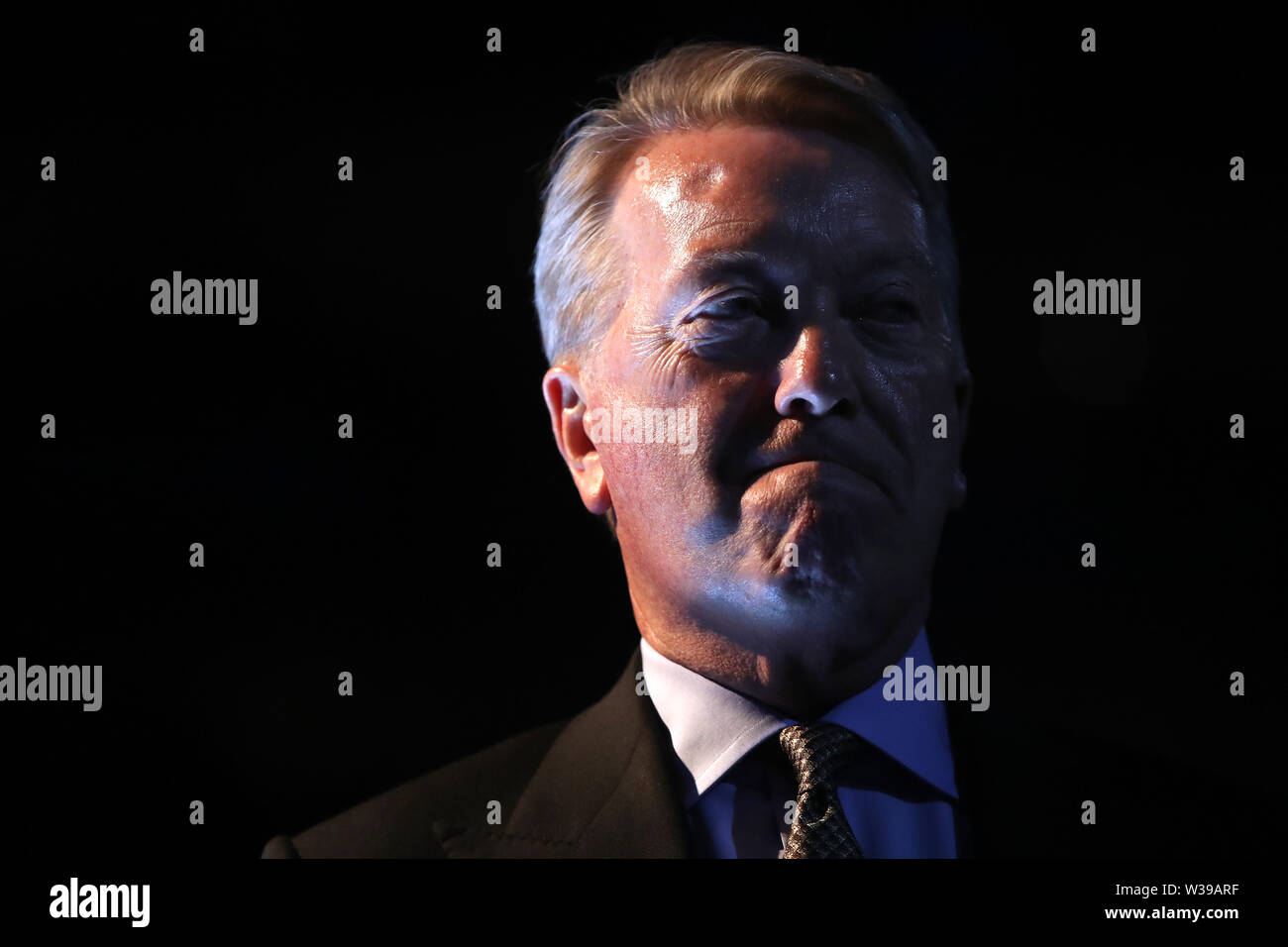 Frank Warren of Queensberry promotions at the O2 Arena, London. - Stock Image