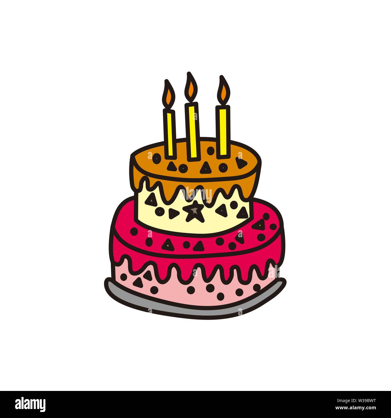 Strange Cake Birthday Design Graphic Template Vector Stock Vector Art Funny Birthday Cards Online Inifodamsfinfo