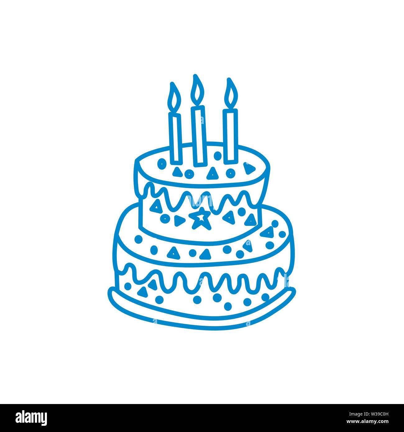 Terrific Cake Birthday Design Graphic Template Vector Stock Vector Art Funny Birthday Cards Online Inifodamsfinfo