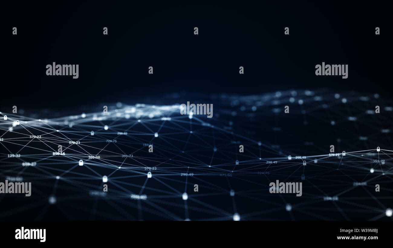 Cyber security concept.Machine learning algorithms. Analysis of information. Technology data binary code network conveying connectivity, Data and info - Stock Image