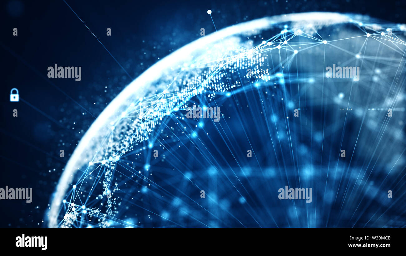 Cyber security and global communication concept. Analysis of information. Technology data binary code network conveying connectivity, Data and informa - Stock Image