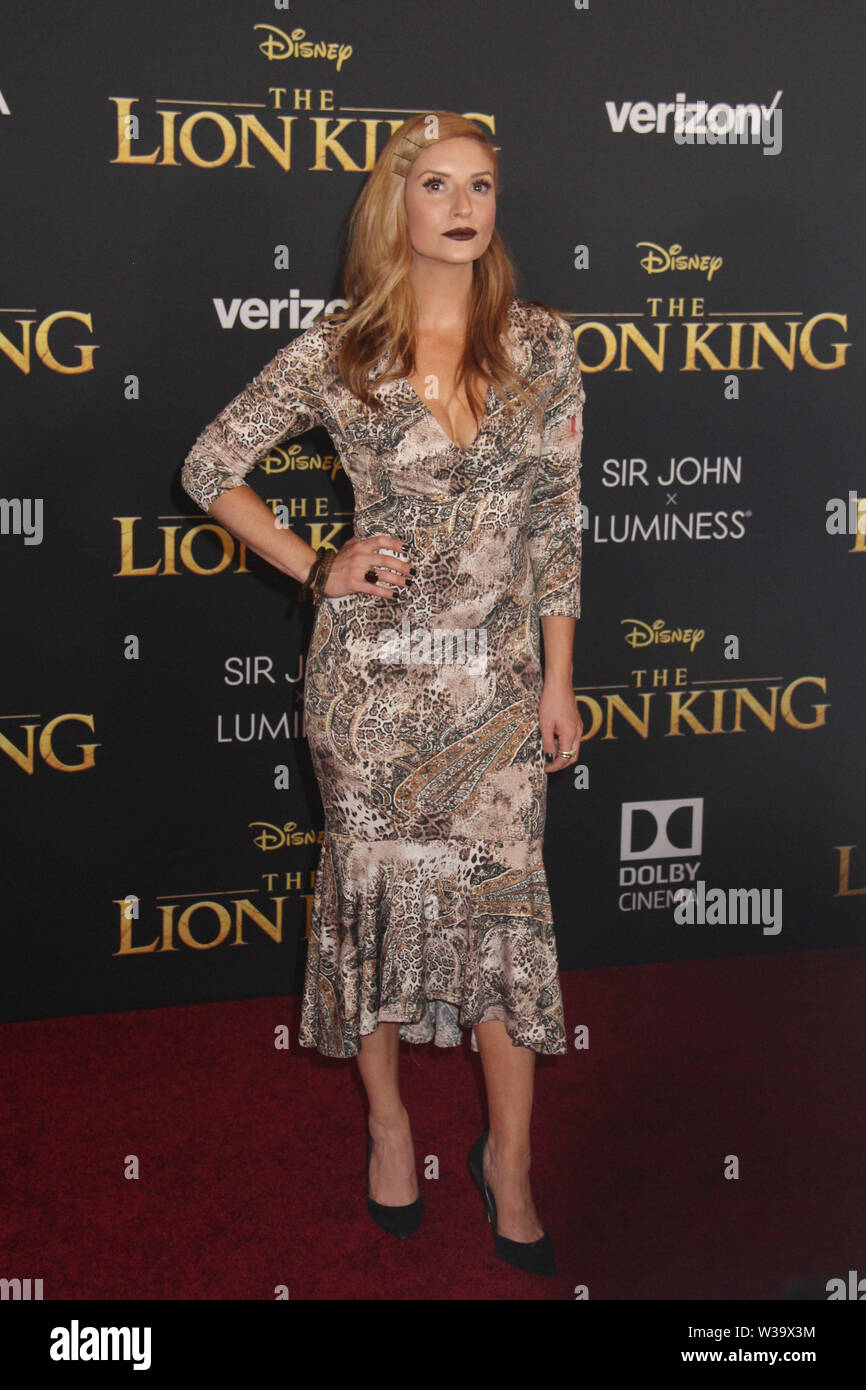 """Anneliese van der Pol  07/09/2019 """"The Lion King"""" Premiere held at Dolby Theatre in Hollywood, CA  Photo: Cronos/Hollywood News - Stock Image"""