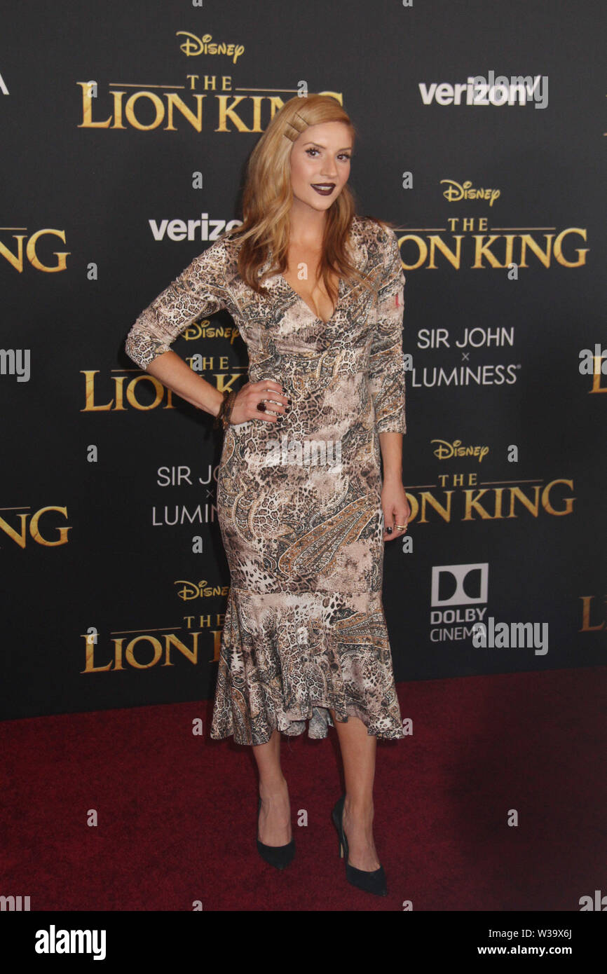 """Los Angeles, USA. 09th July, 2019. Anneliese van der Pol 07/09/2019 """"The Lion King"""" Premiere held at Dolby Theatre in Hollywood, CA Credit: Cronos/Alamy Live News - Stock Image"""