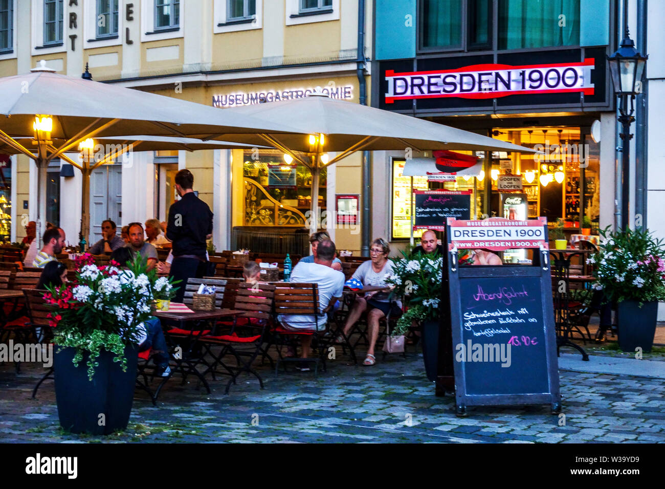 Dresden 1900 Restaurant, Old Town Germany - Stock Image