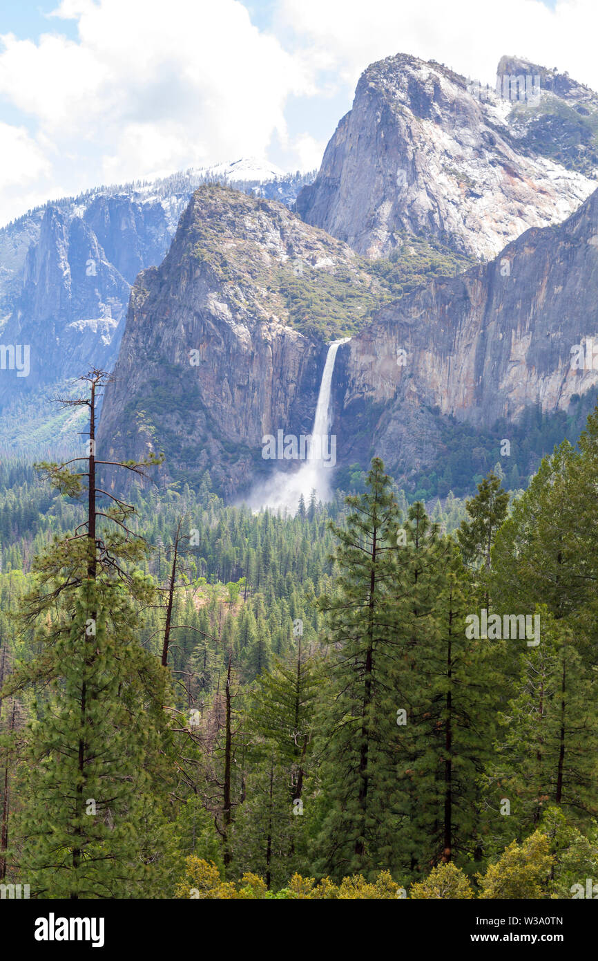 Tunnel view in Yosemite National Park, United States Stock Photo