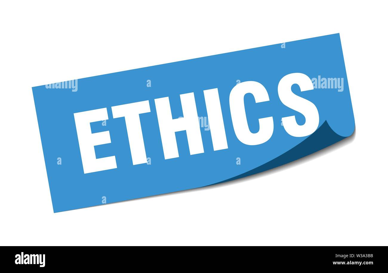 ethics sticker. ethics square isolated sign. ethics - Stock Image