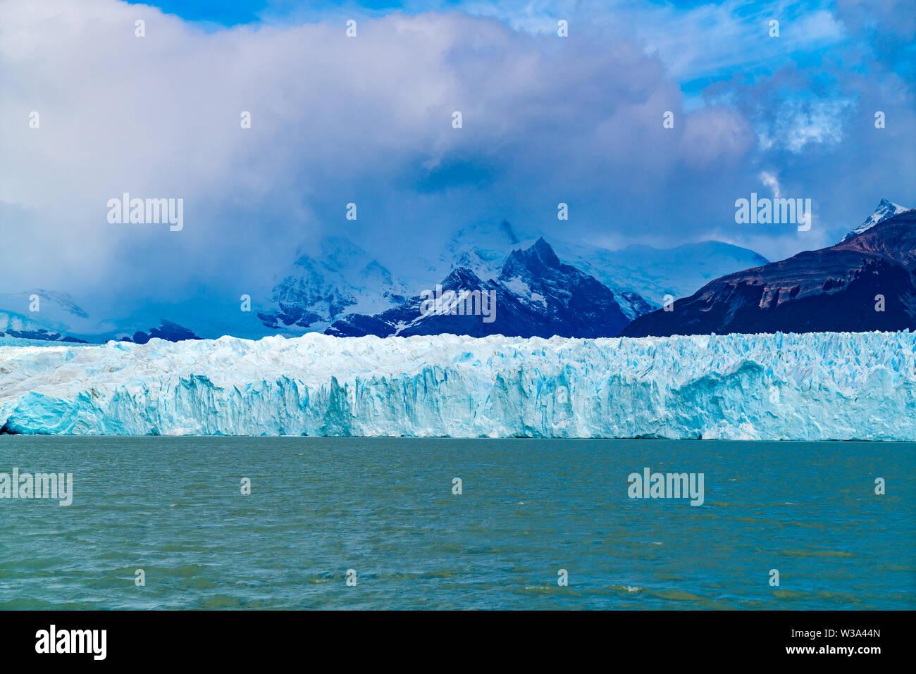 Perito Moreno Glacier in Loa Glaciares National Park in Patagonia Argentina - Stock Image