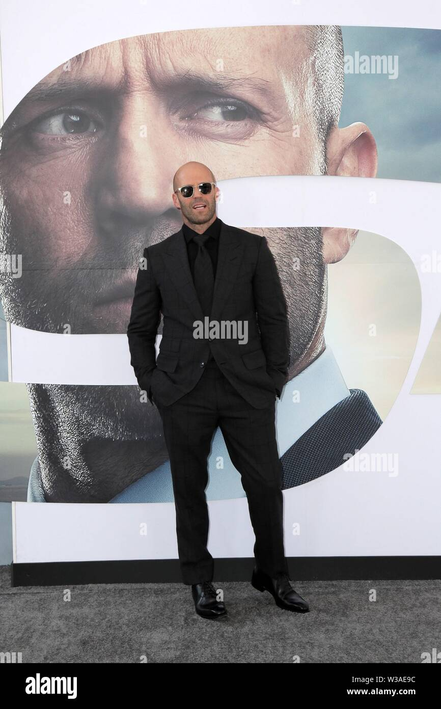Los Angeles, CA, USA. 13th July, 2019. Jason Statham at arrivals for FAST & FURIOUS PRESENTS: HOBBS & SHAW Premiere, The Dolby Theatre at Hollywood and Highland Center, Los Angeles, CA July 13, 2019. Credit: Priscilla Grant/Everett Collection/Alamy Live News Stock Photo