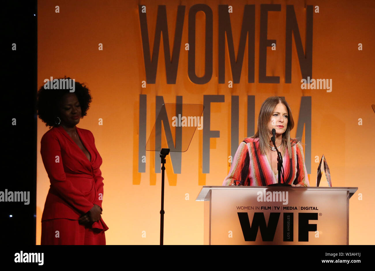 Women In Film Annual Gala 2019 Presented By Max Mara_Show Featuring: Viola Davis, Cathy Schulman Where: Beverly Hills, California, United States When: 12 Jun 2019 Credit: FayesVision/WENN.com - Stock Image