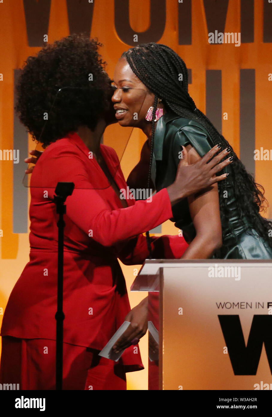 Women In Film Annual Gala 2019 Presented By Max Mara_Show Featuring: Viola Davis, Xosha Roquemore Where: Beverly Hills, California, United States When: 12 Jun 2019 Credit: FayesVision/WENN.com - Stock Image