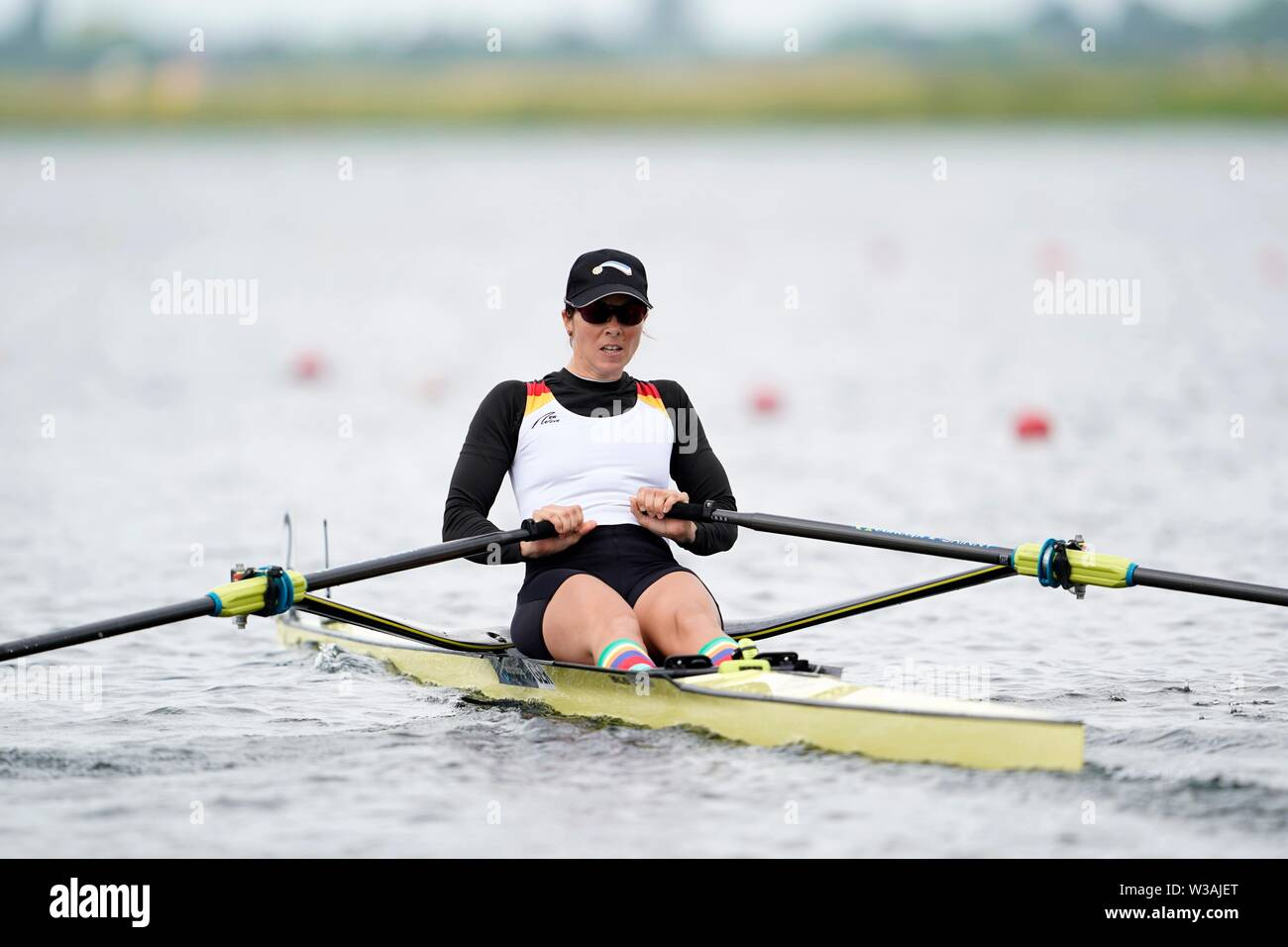 Marie-Louise Draeger GER during World Cup III rowing on July