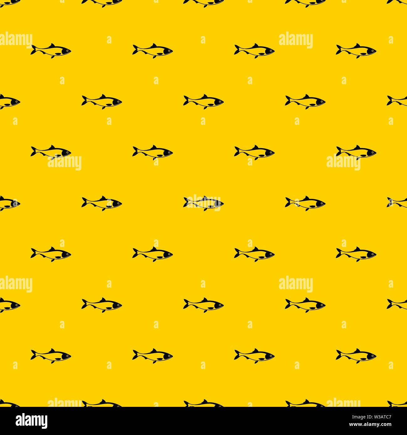 Fish pattern vector - Stock Image