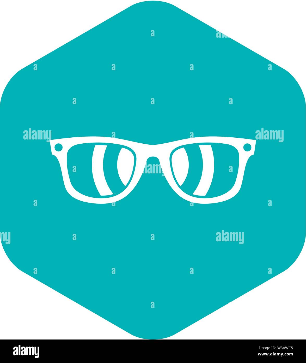 Sunglasses icon, simple style - Stock Image