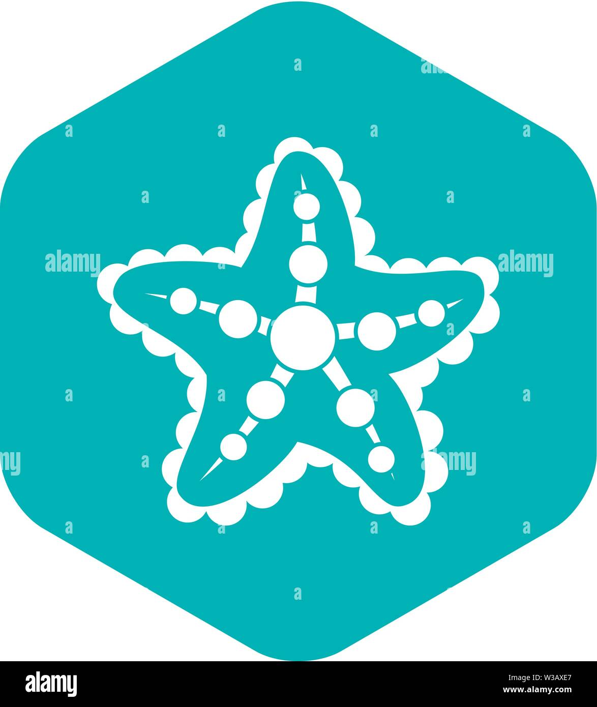 Starfish icon, simple style - Stock Image