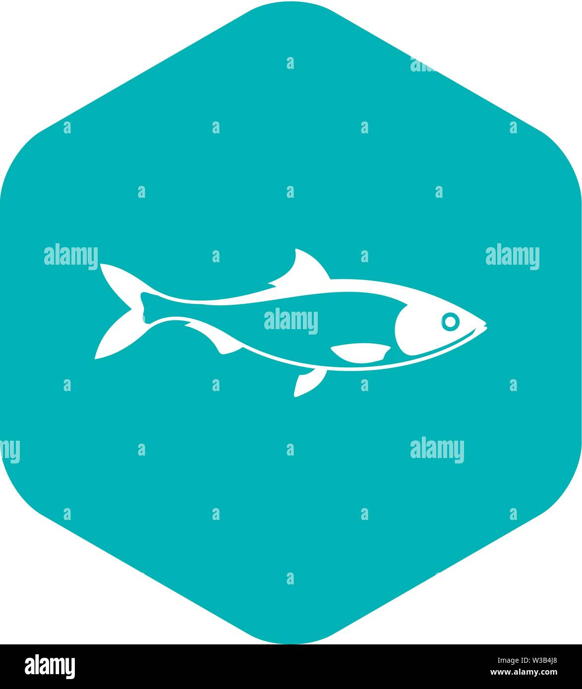 Fish icon, simple style - Stock Image