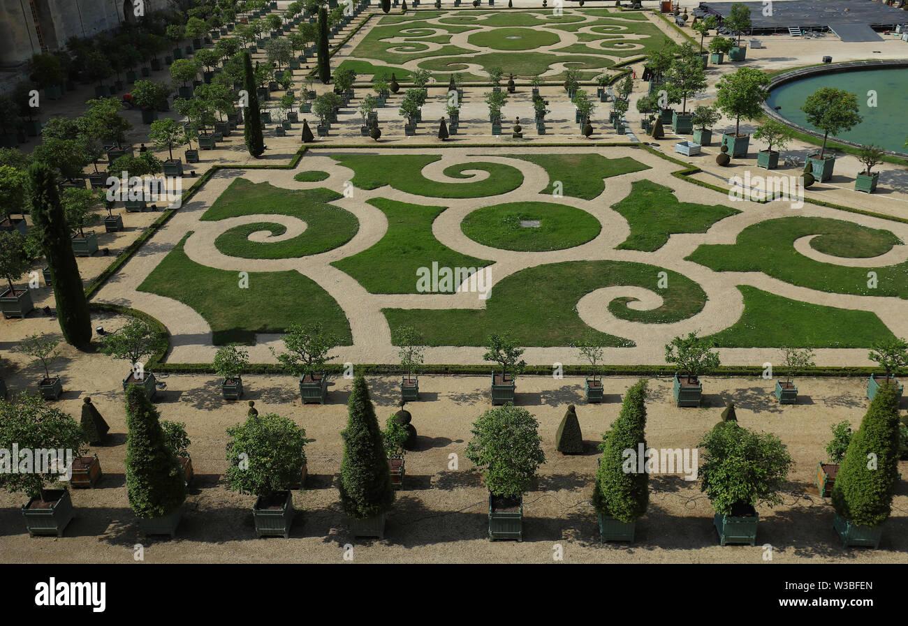 France Palace Versailles Flower Stock Photos & France Palace