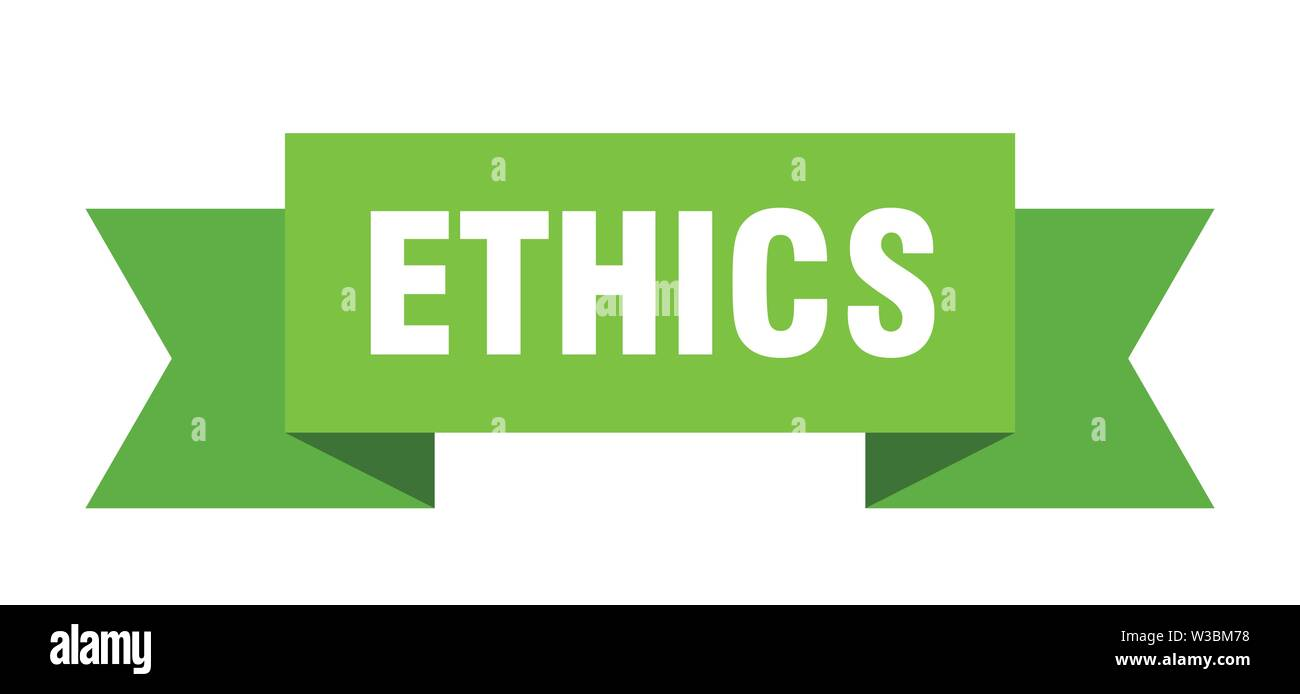 ethics ribbon. ethics isolated sign. ethics banner - Stock Image