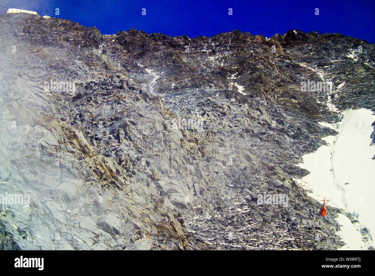 PGHM, mountain rescue unit, Chamonix, Haute-Savoie, France - Stock Image