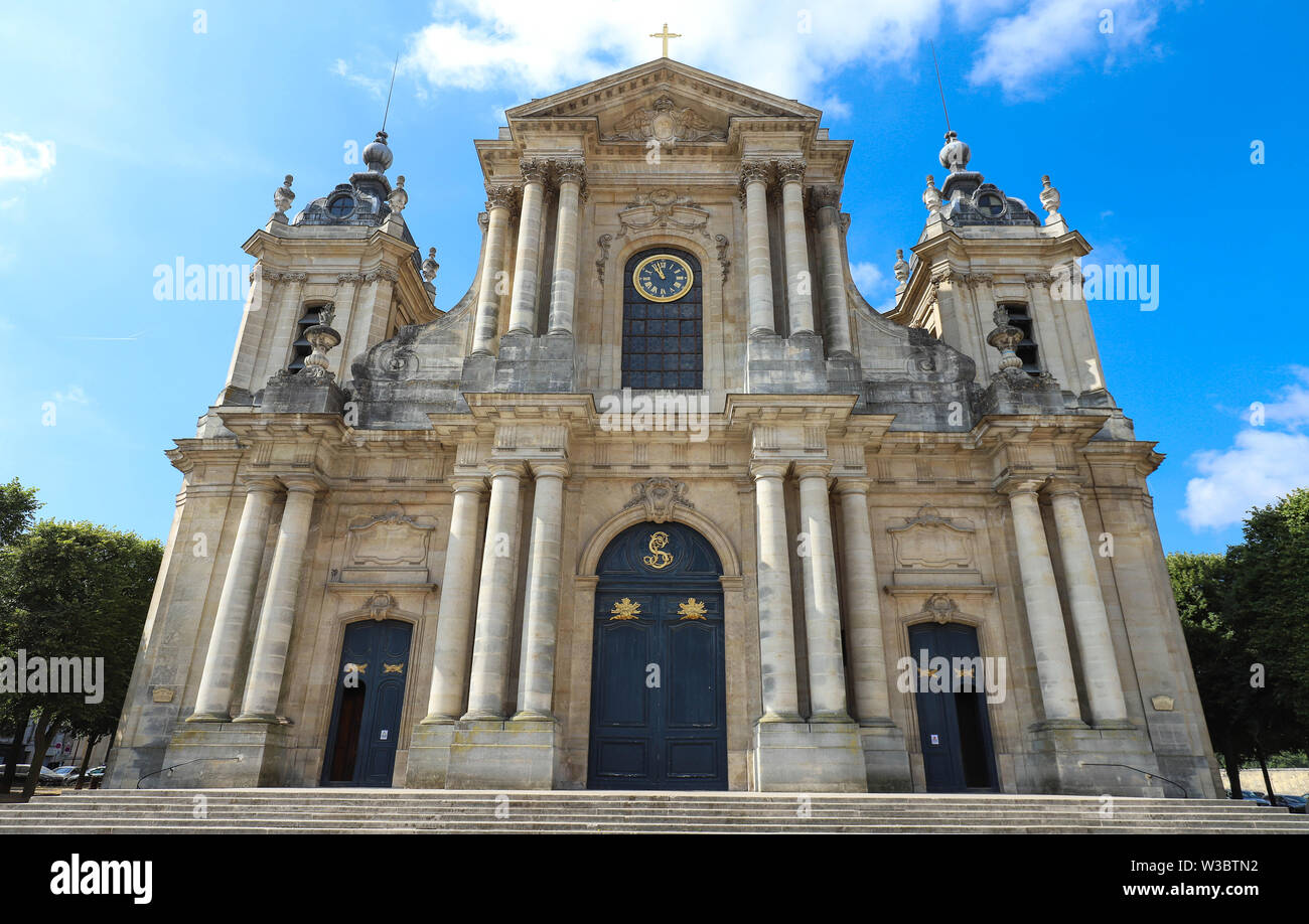 Saint-Louis catholic Cathedral of Versailles - France . - Stock Image
