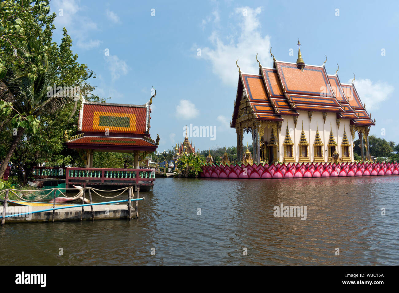 Plai Laem Temple at Ban Bo Phut, Koh Samui, Thailand Stock Photo