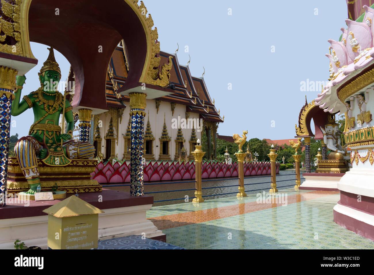 Buddha Statue at Plai Laem Temple in Ban Bo Phut, Koh Samui, Thailand Stock Photo