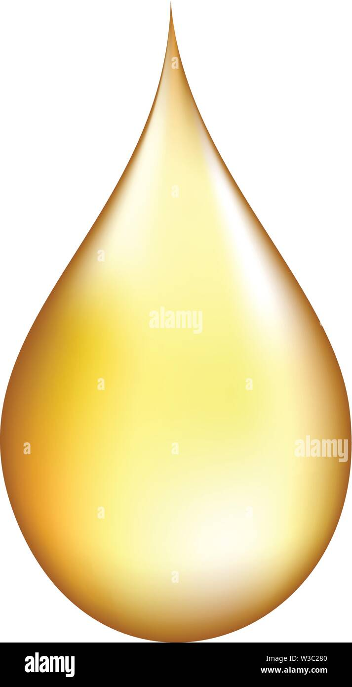 Realistic gold drop. - Stock Image