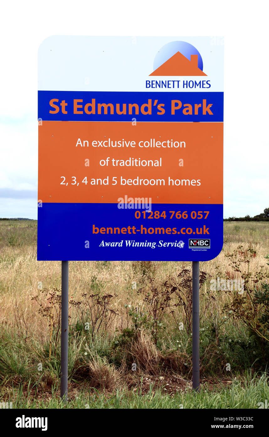 Bennett Homes, agricultural land, acquisition, new housing development, St. Edmunds Park, Hunstanton, Norfolk, England. - Stock Image