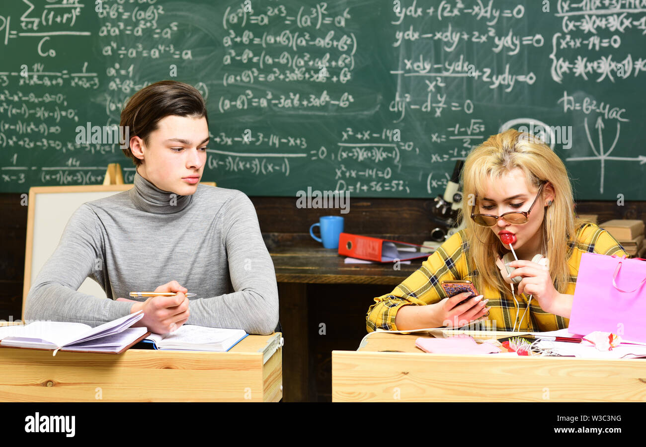 University students doing group study. Back to school. Successful tutors co-create individualized learning plans with their students. Tutors fill diff - Stock Image