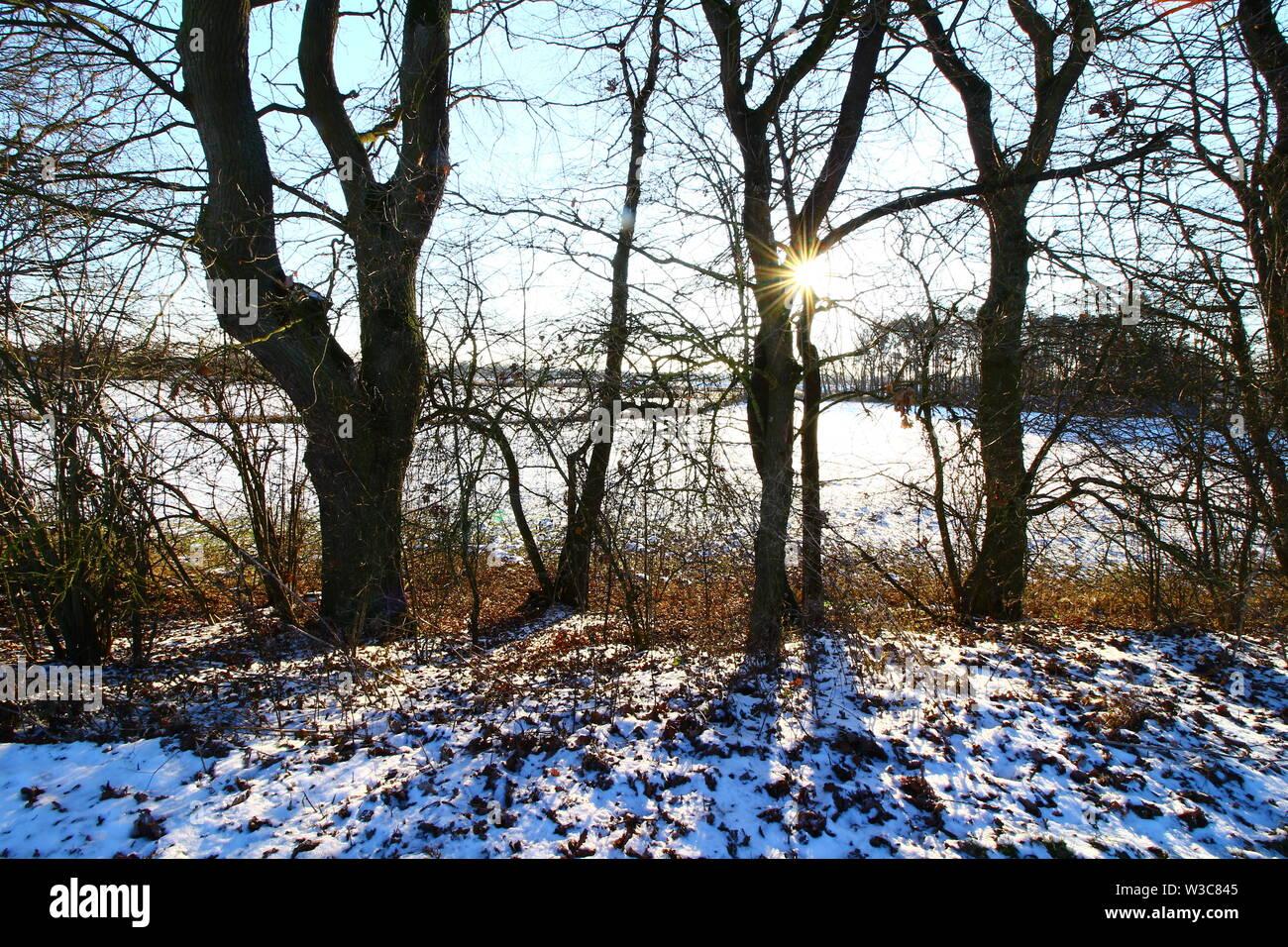 Wintertag in Bad Gögging, einem Stadtteil von Neustadt an der Donau in Bayern in Süddeutschland - Stock Image