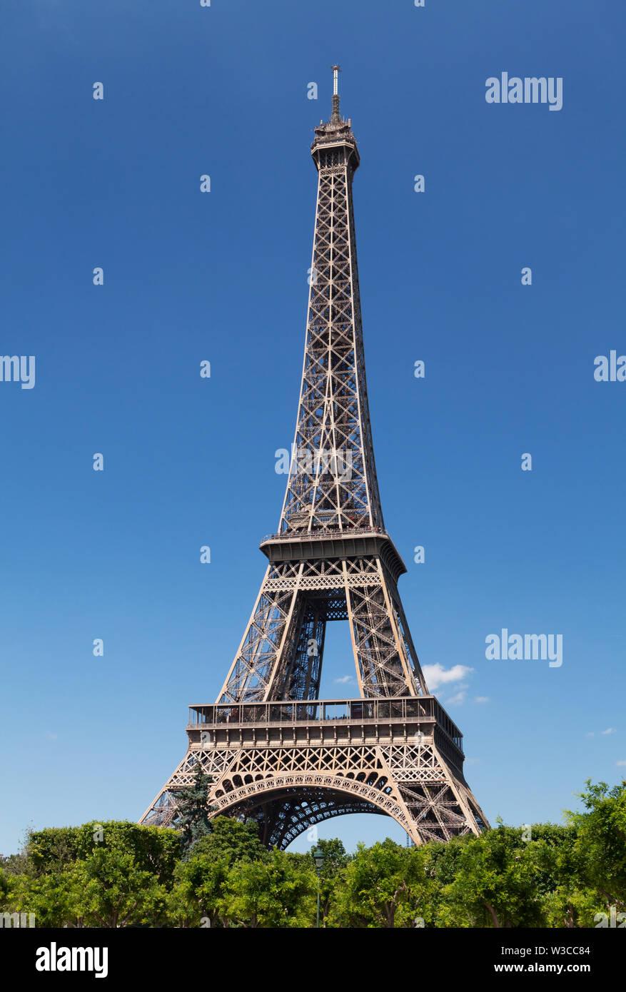 Eiffel tower, Paris. France. Tourist greeting card - Stock Image