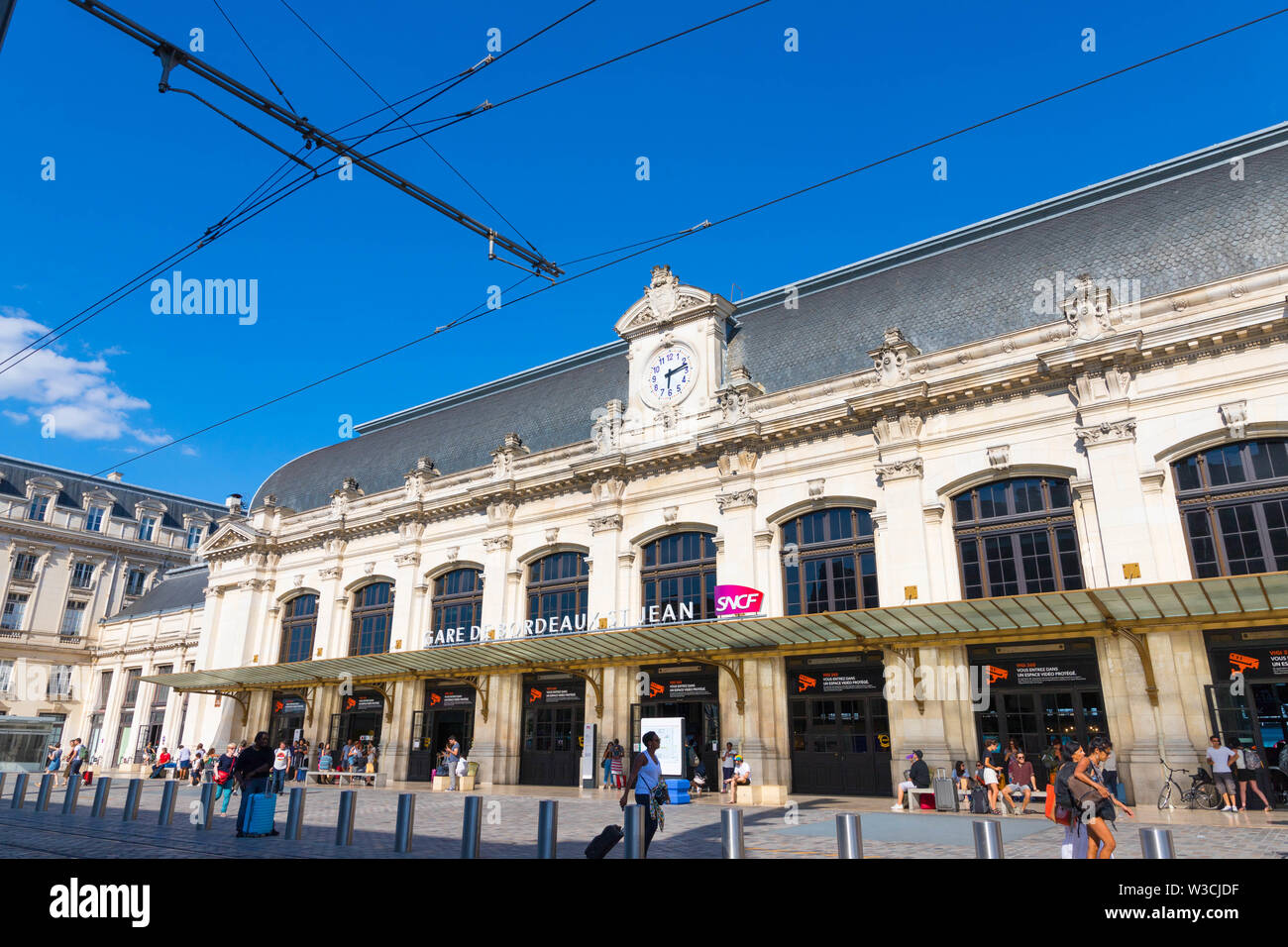 Bordeaux St-Jean front entry train station - Stock Image