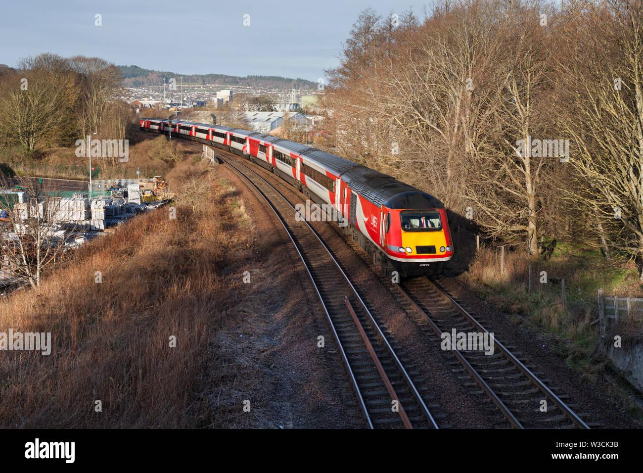 18/03/2019 Inverness Welsh's bridge Junction 43239 (+43316) 0755 Inverness - Kings cross - Stock Image