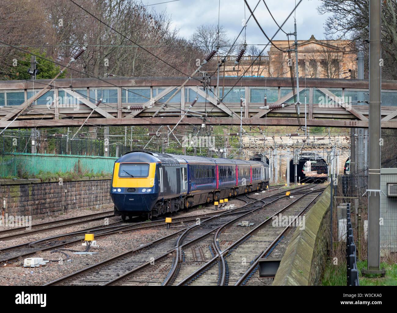 20/03/2019 Princes Street gardens, Edinburgh 43021  (+43145) 1530 Edinburgh to Aberdeen - Stock Image