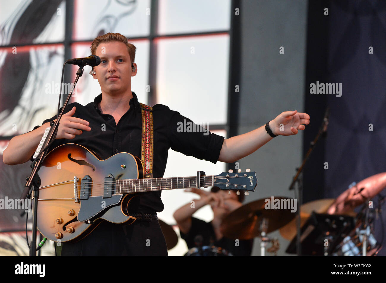 Glasgow, UK  14th July, 2019  George Ezra live in Concert at