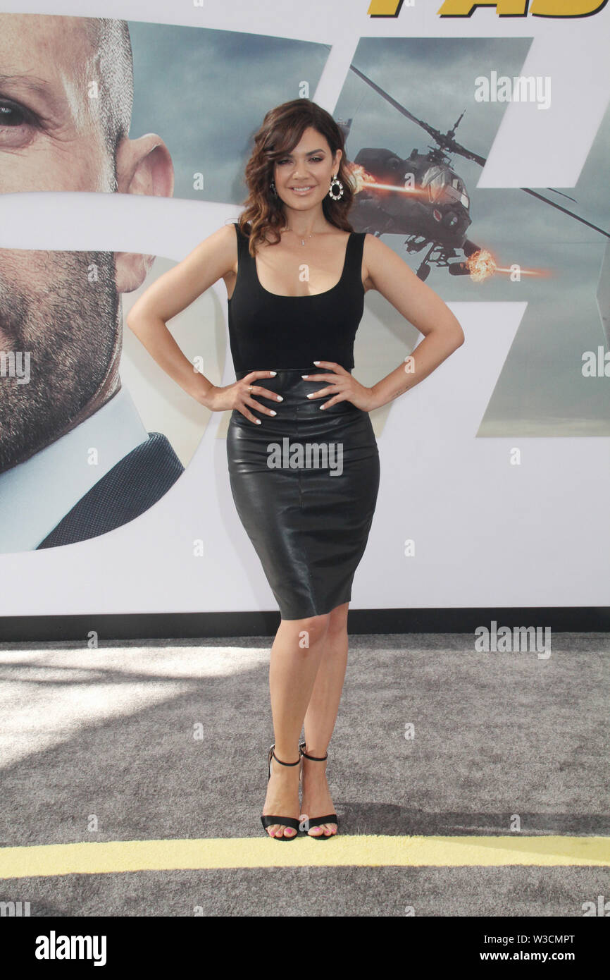 "Los Angeles, USA. 13th July, 2019. Angelica Celeya 07/13/2019 The world premiere of ""Fast & Furious Presents: Hobbs & Shaw"" held at the Dolby Theatre in Los Angeles, CA Credit: Cronos/Alamy Live News Stock Photo"