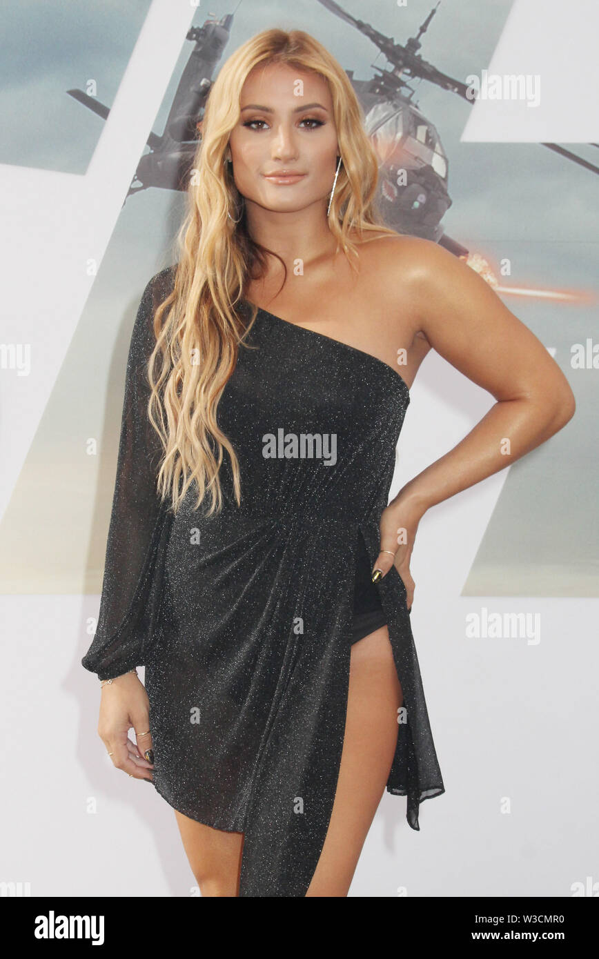 Los Angeles, USA. 13th July, 2019. Montana Tucker 07/13/2019 The world premiere of 'Fast & Furious Presents: Hobbs & Shaw' held at the Dolby Theatre in Los Angeles, CA Credit: Cronos/Alamy Live News - Stock Image