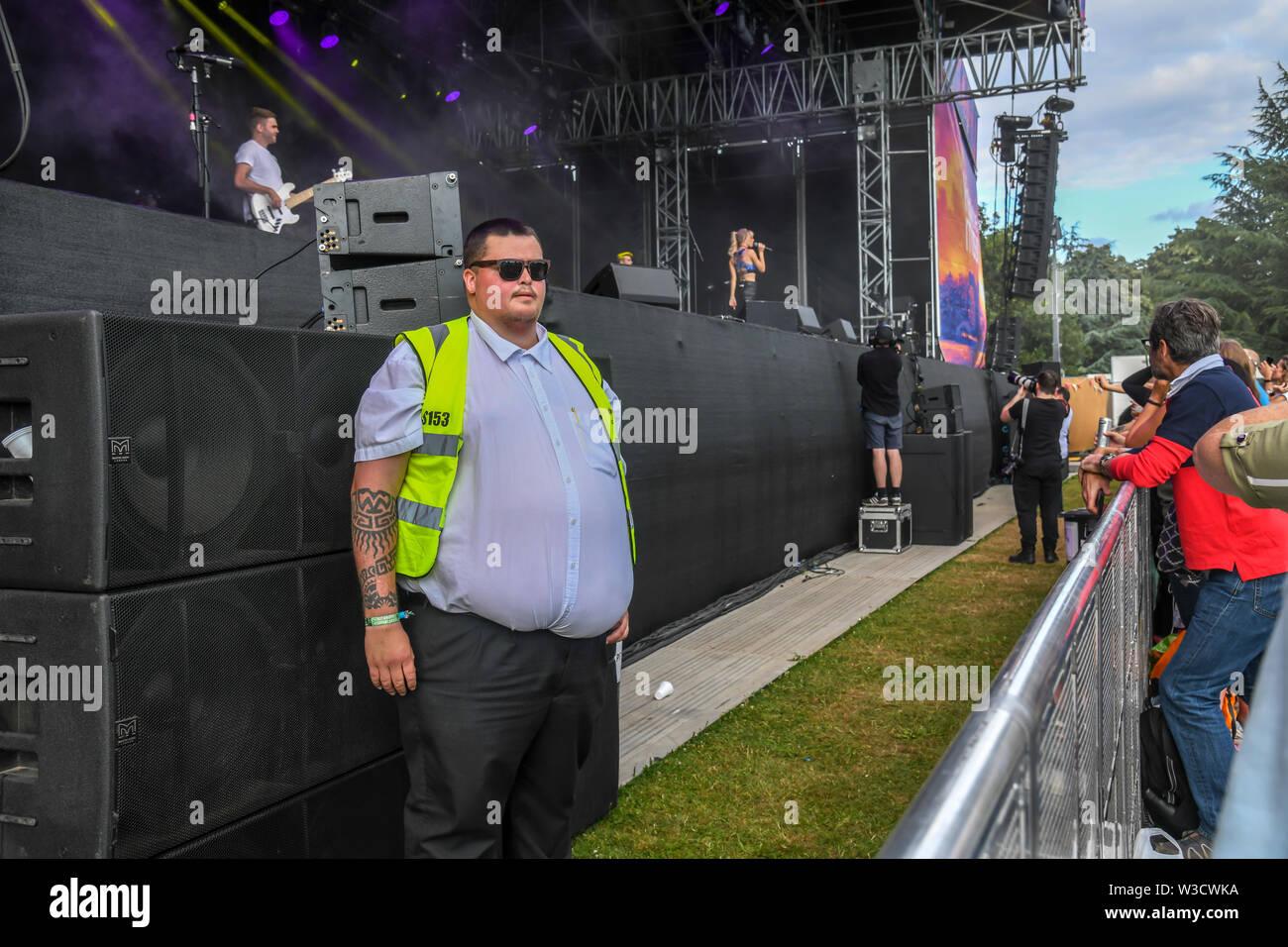 London, UK. 14th July 2019. Kerri Watt from Scotland performs at Kew the Music 2019 on 14 July 2019, London, UK. Credit: Picture Capital/Alamy Live News - Stock Image