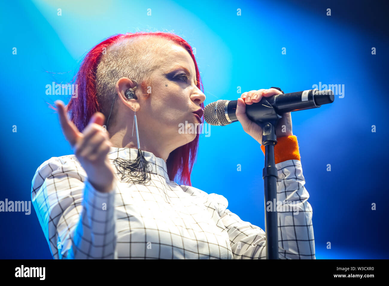 Zagreb, Croatia - 25th June, 2019 : Garbage performs on the 14th INmusic festival located on the lake Jarun in Zagreb, Croatia. Stock Photo